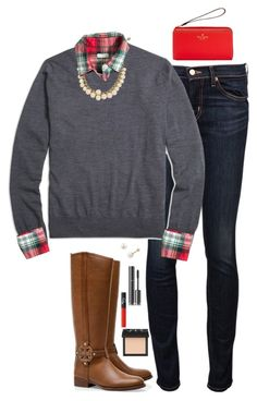 """11.1.15"" by sc-prep-girl ❤ liked on Polyvore featuring J Brand, Brooks Brothers, Kate Spade, J.Crew, Tory Burch, PearLustre by Imperial, Chanel and NARS Cosmetics"