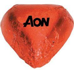 Custom Chocolate Hearts - Red