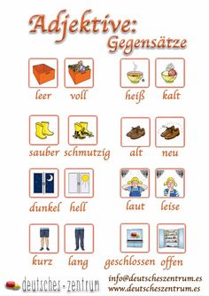 Adjektive / Adjetivos/gramática / Alemán / Deutsch / DAF