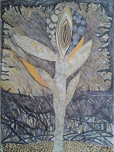 ARTES, DESARTES E DESASTRES CONTEMPORÂNEOS.   Fantasy (from February 2012) Com base nesta pintura autoral fiz várias interferências digitais Técnica mista  (acrílica, nanquim e hidrográfica) sobre papel 0,60 x 0,44