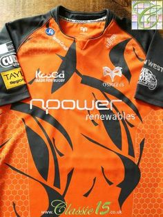 Official Kooga Ospreys European rugby shirt from the season. Rugby Jersey Design, Classic Rugby Shirts, Scott Johnson, British And Irish Lions, International Rugby, New Zealand Rugby, Six Nations
