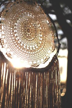 Whispers of the Wild' Doily Dreamcatcher by FoundandFeathers