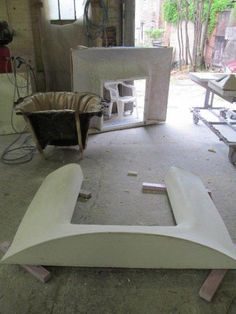 fabric formed fireplace