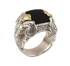 Sterling Silver & 18k Gold Serpent Ring