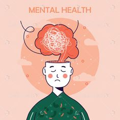 Mental Health Posters, Mental Health Art, Mental Health Disorders, Mental Health Issues, Medical Illustration, Graphic Design Illustration, Human Vector, Mental Health Campaigns, Yayoi