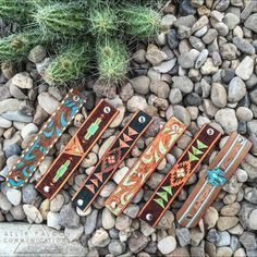 Southwestern, tooled leather cuffs by Allie Falcon Communications!