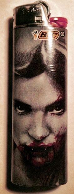 Vampire Girl BIC Lighter