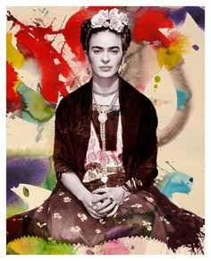 One of my absolute favorite artists, Frida Khalo. I love classic Mexican art. Modern Pop Art, Diego Rivera, Mexican Folk Art, Mexican Artists, Museum, Art Photography, Frida Kahlo Portraits, Pop Art Posters, Frida And Diego