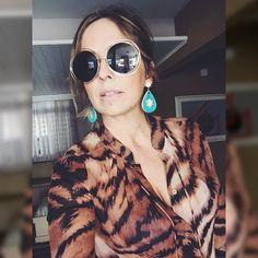 Com os óculos queridinhos da #chloe. Amei @lojasaliancadeouro do @iguatemifortaleza. #estiloandreafialho #andreafialho