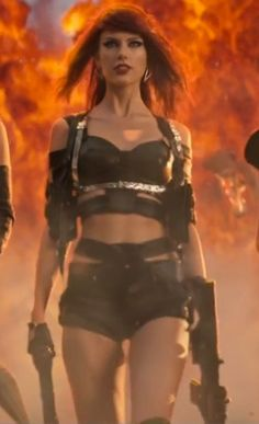 Taylor Swift 'bought Bad Blood outfits for celebrity pals including Cara ... Bad Blood video  #BadBloodvideo