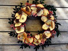 10 Dried Apple Wreath Kitchen Wreath Dried Fall by SteliosArt