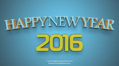 Fantastic 5#3D Happy New Year 2016 Backgrounds