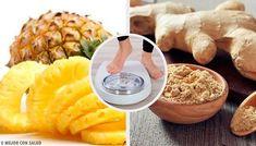 Ned i vekt med denne ananas og ingefær-smoothien Fruit Smoothies, Smoothie Recipes, Chia Benefits, Ginger Benefits, Pineapple Benefits, Ginger Juice, Different Recipes, Cellulite, Superfoods