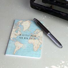 Vintage Map 'A Little Notebook For Big Ideas' Pocket Notebook
