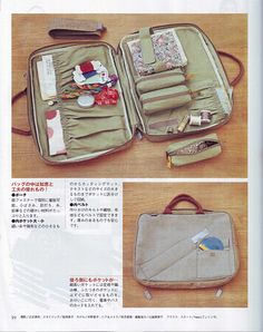 sewing case; with instructions on the following pages