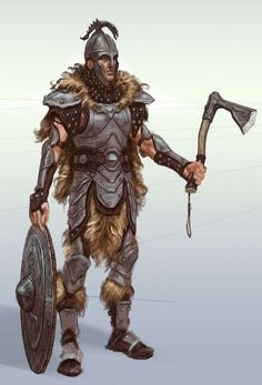 Steel Armor concept art from The Elder Scrolls V: Skyrim by Adam Adamowicz