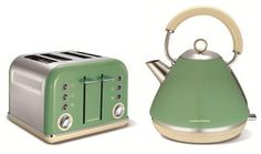 Morphy Richards 1.5Ltr Accents Traditional Kettle & 4 Slice Toaster (Sage Green): Amazon.co.uk: Kitchen & Home