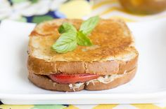 Skinny Caprese Grilled Cheese Sandwiches recipe by skinnymom photo of finished sandwich