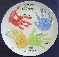 Large Personalised Hand/Footprint Platter