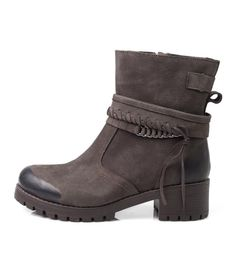 Brown Thick Heal Boots