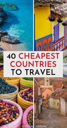 Want to travel the world on a budget? Here are the best budget travel destinations! cheapest countries to travel | cheapest countries in Europe | cheapest countries to live in | affordable countries to travel | affordable countries in Europe | affordable travel destinations | budget friendly places to travel | cheapest countries to visit | budget travel tips | budget travel Europe | budget travel Asia | budget travel Africa | budget travel South America | budget travel Central America Cheap Countries To Travel, Best Places To Travel, Best Places To Honeymoon, Best Countries To Visit, Cool Places To Visit, Solo Travel, Travel Usa, Travel Europe, Globe Travel