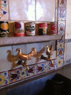 Kitchen sink, Hearst Castle