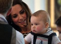 April 9, 2014 - The Duke and Duchess chatted in the Blandor Room with the other adults, including a single mother and same-sex parents. | 11 Adorable Pictures Of Prince George Enjoying His First Official Play Date