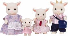 Brightfield Goat Family *dies if the cute* Why put creepy people dolls in the doll house whrn we could have these?
