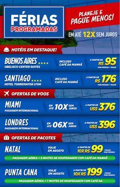 Férias Programadas ☀ RumoNet Viagens! Acesse agora www.rumonet.com.br e aproveite agora essas ofertas escolhidas especialmente para você!