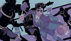 An illustration of the legendary Prince basketball stories.