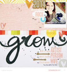 Grow *Main Kit Only* scrapbook layout by celine navarro at @Studio_Calico - #SCsugarrush