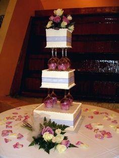 Glass Pillars For Wedding Cakes