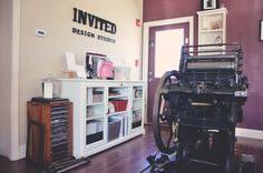 Letterpress machine in our studio