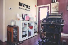 Letterpress machine in our studio