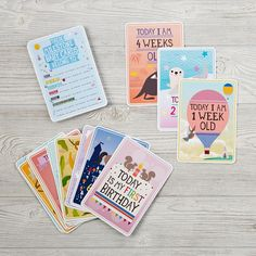 Shop Milestone Baby Cards.  These award-winning Milestone™ Baby Cards are 30 photo cards that you can use to capture your baby's first year in weeks, months and memorable moments.