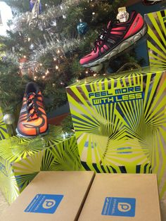 Robert's Running and Walking Shop decorated their Christmas tree with #PureProject 2 shoes. Repin if you're excited for new PureProject shoes!