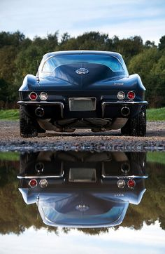 Corvette Reflection and the only one you will see after the light turns green