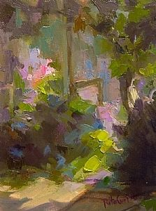 Hidden Garden by Rita Curtis Oil ~ 8 x 6