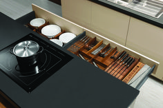Organize your life and your kitchen drawers with our wide assortment of organizers and cutlery dividers from Hans Krug Fine European Cabinetry