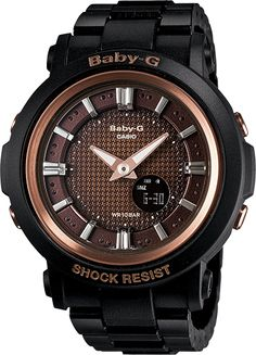 New vintage Casio Baby-G Shock BGA301-1A Black with a brown face