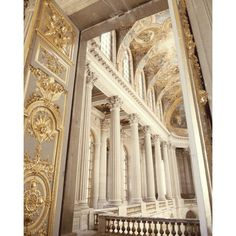 Gold Photo - Versailles 8x10 Photo - Church, Paris - Marie Antoinette,... ($22) ❤ liked on Polyvore