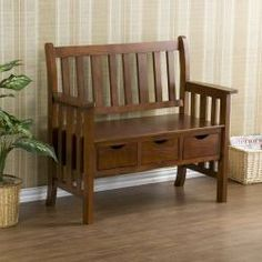 Catalina 47-inch Lime Wash Finished Bench