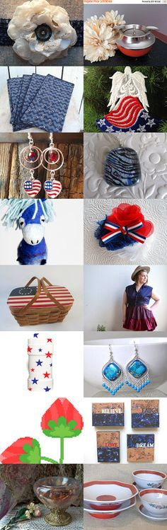 Red, White and Blue by Gail on Etsy--Pinned+with+TreasuryPin.com