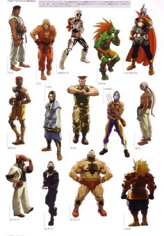 CHARACTER MODEL street fighter