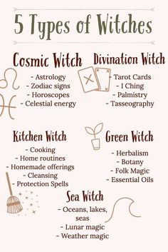 5 Types Of Witches - Wicca And Witchcraft Beginners Guide. What type of witch are you? - Witch is divided into 3 basic types of witches: white witch, black witch, and gray witch. Magick Spells, Wiccan Witch, Wicca Witchcraft, Types Of Witchcraft, Green Witchcraft, Witch Spells Real, White Witch Spells, Witch Spell Book, Witch Rituals