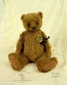 Nomi OOAK Cinnamon Brown Alpaca  Artist Teddy Bear by aerlinnbears