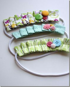 Fabric Bows and More: Pleated Headband Tutorial by Craftiness is not Opt...