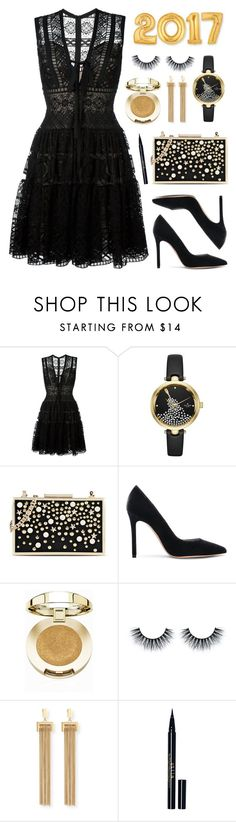 """""""Happy New Year!"""" by lgb321 ❤ liked on Polyvore featuring Elie Saab, Kate Spade, Karl Lagerfeld, Gianvito Rossi, Milani, Chloé and Stila"""