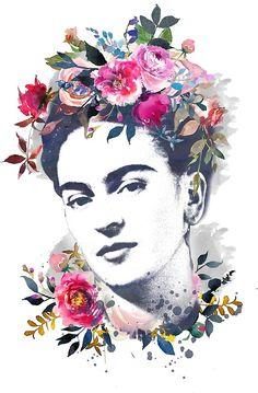 Poster Frida Kahlo Printable Watercolor Portrait Frida Kahlo - Saatchi Art Frida Painting By Gillian Brennan La Casa Azul Museo Frida Kahlo Room And E B Nina On The Moon Frida Kahlo Wall Art From Saatchi Art Online Gallery See How Female A Frida Kahlo Artwork, Frida Kahlo Portraits, Frida Art, Frida Tattoo, Frida Kahlo Tattoos, Portrait Male, Fridah Kahlo, Arte Fashion, Diego Rivera