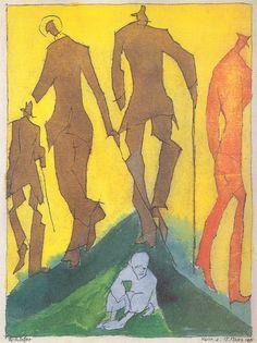 Lyonel Feininger, Das verlassene Kind, 1915